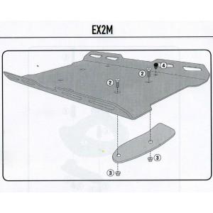 M5/M6/M7 플레이트 혹은 SR/FZ 브라켓 전용 익스텐션 (알미늄) - EX2M